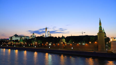 Kremlin sunset timelapse Stock Video Footage