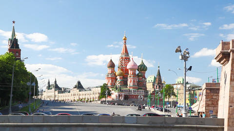 Travel along Kremlin Stock Video Footage
