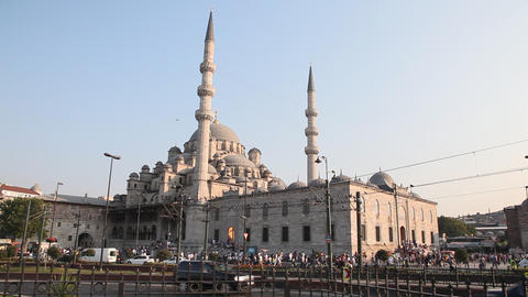 New Mosque ( Yeni Cami ) Stock Video Footage