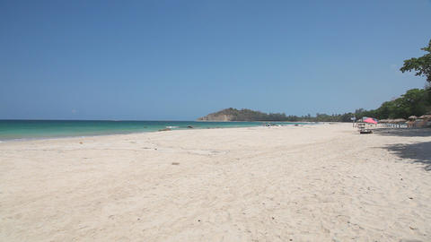 White sand beach Stock Video Footage