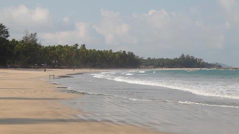 White sand beach Stock Video Footage