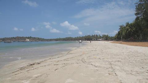 Fishing vilage sand beach Stock Video Footage