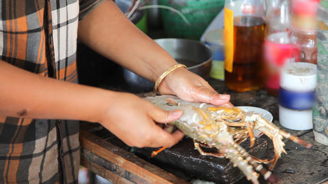 Lobster cooking Stock Video Footage