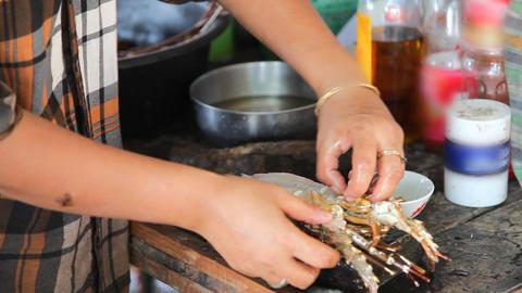 Lobster cooking Footage