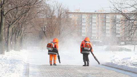 Janitors at Novodevichy Convent pond Live Action