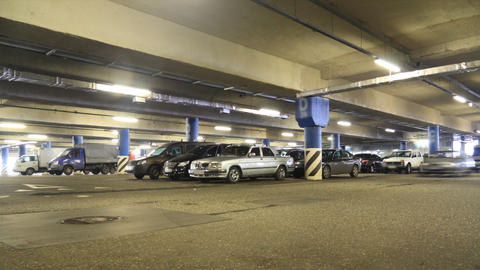 Parking timelapse Stock Video Footage