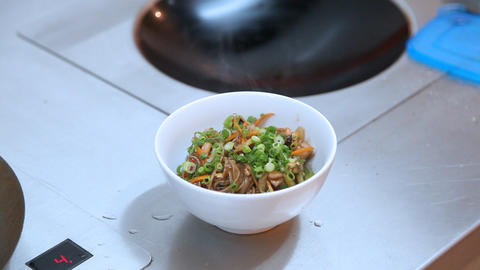 Plate with noodles Stock Video Footage