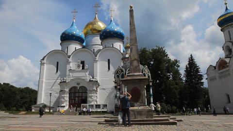 Holy Trinity Saint Sergius Lavra Footage