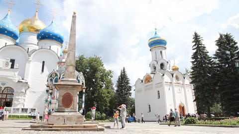 Holy Trinity Saint Sergius Lavra Stock Video Footage