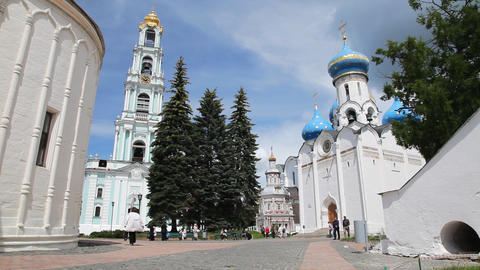 Holy Trinity Saint Sergius Lavra sequence Stock Video Footage