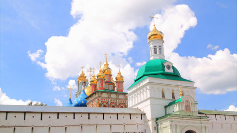 Holy Trinity Saint Sergius Lavra timelapse Stock Video Footage