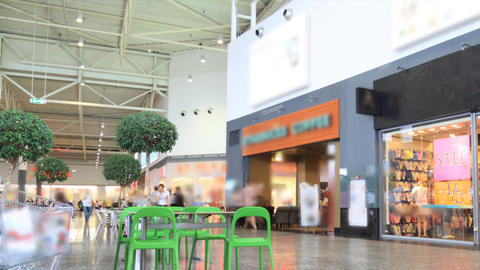 Shopping mall timelapse Stock Video Footage
