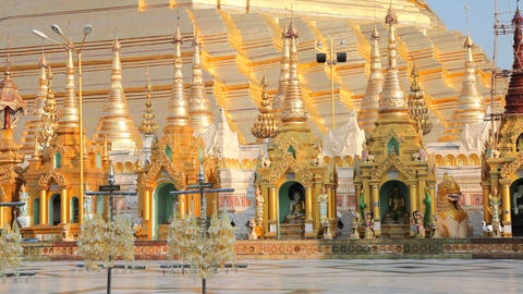 Shwedagon Pagoda Stock Video Footage