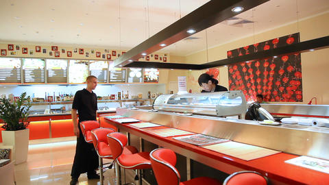 Sushi bar Stock Video Footage