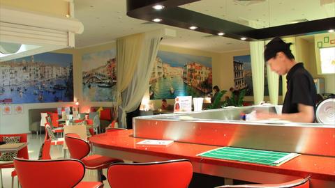 Sushi bar timelapse Stock Video Footage