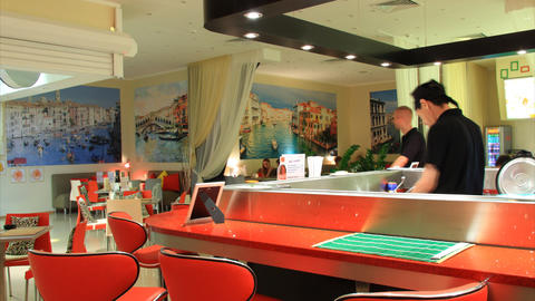 Sushi bar timelapse Stock Video Footage