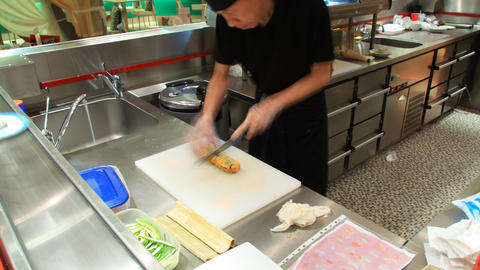 Sushi cooking timelapse Stock Video Footage