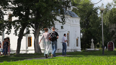 Rizopolozhensky convent in Suzdal Stock Video Footage