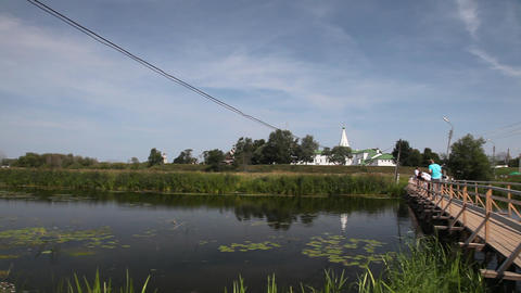 Ilinskaya church and Kremlin in Suzdal Footage