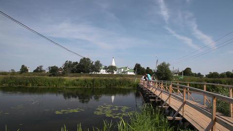 Ilinskaya church and Kremlin in Suzdal Stock Video Footage
