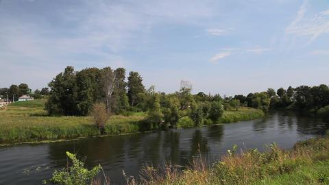 Kamenka river in Suzdal Stock Video Footage