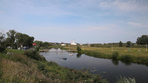 Ilinskaya church in Suzdal Footage