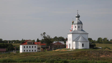 Temple in Suzdal Stock Video Footage