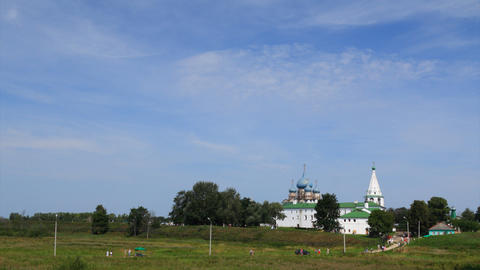 Kremlin in Suzdal timelapse Stock Video Footage