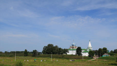 Kremlin in Suzdal timelapse Stock Video Footage