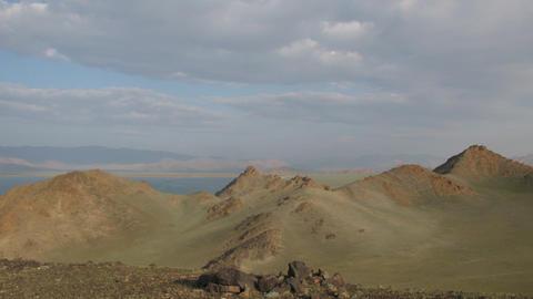 Timelapse of mountain Lake Tolbo Nuur Stock Video Footage