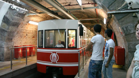 Tunnel tram Stock Video Footage
