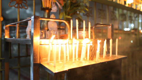 Yangon buddha Chauk Htatt Ghyee candles 8425 HD Stock Video Footage
