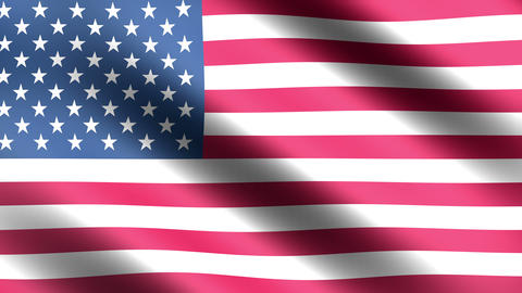 4K Flag Animation USA Stock Video Footage