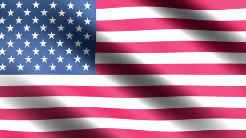 4K Flag Animation USA stock footage