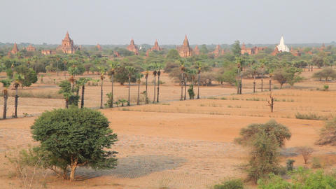 Panorama of Bagan Footage