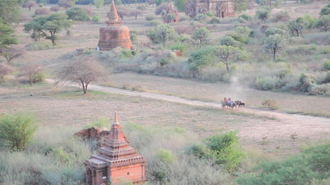 Cart in Bagan Stock Video Footage