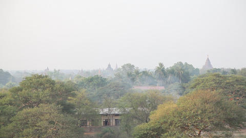 Panorama of Bagan Stock Video Footage