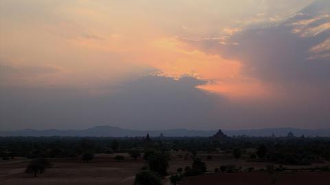 Bagan sunset timelapse Stock Video Footage