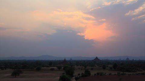 Bagan sunset timelapse Footage