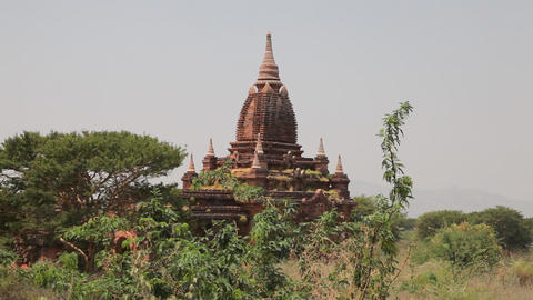Pagoda in Bagan Stock Video Footage