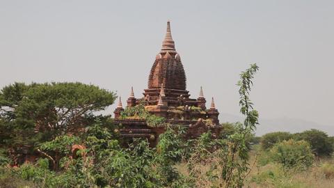Pagoda in Bagan Stock Video Footage