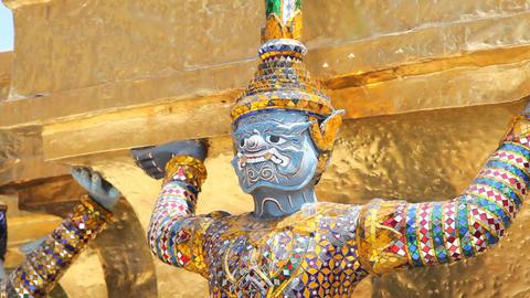 Sculpture of Rakshasa Stock Video Footage