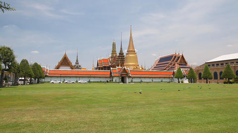 Grand Palace, Bangkok, Thailand Stock Video Footage