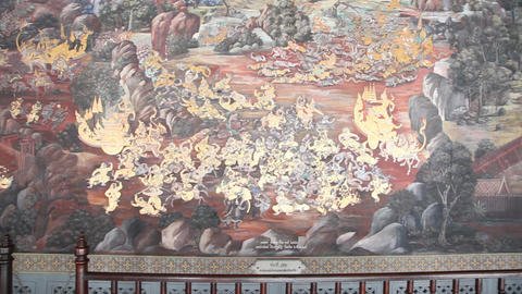 Wall in Grand Palace Footage