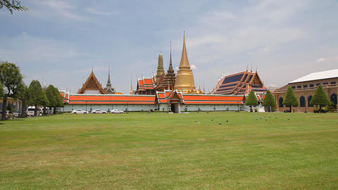 Grand Palace, Bangkok, Thailand Stock Video Footage