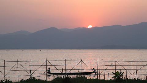 Inle lake sunset Footage