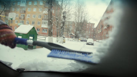 Car in snow Footage