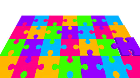 Puzzle wipe Stock Video Footage