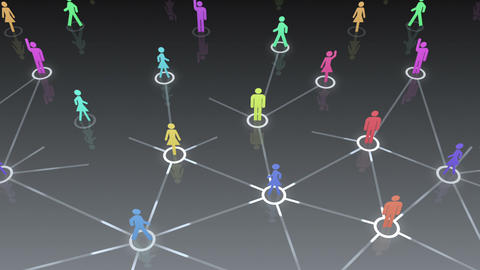 Social Network Connection A 1b 1 HD Animation