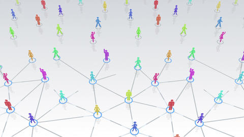 Social Network Connection A 3w 1 HD Stock Video Footage
